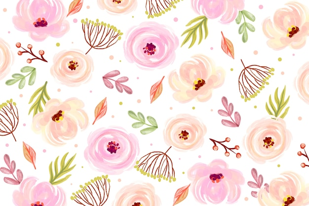 Floral watercolor background with soft colors