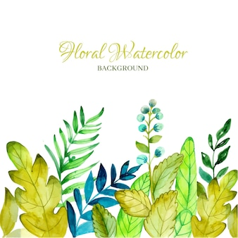 Floral watercolor design of background