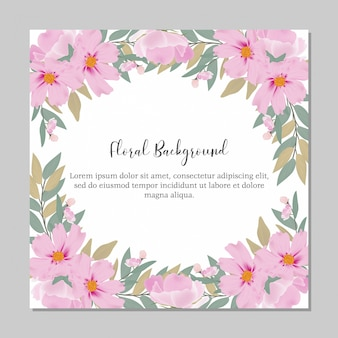 Floral watercolor frame multi purpose template