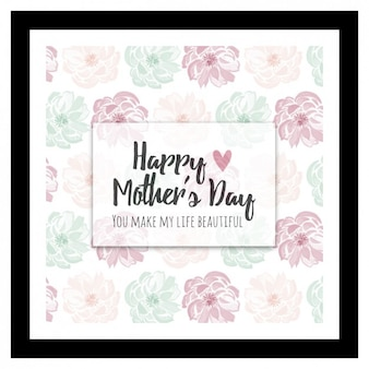 Floral watercolor mother's day background