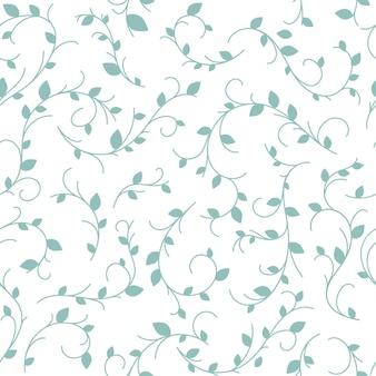 Цветочный узор акварель довольно ветка на белом фоне милый нежный узор