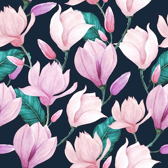 Floral watercolor pattern seamless