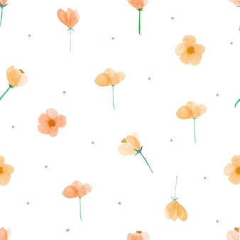 Floral watercolor seamless pattern background