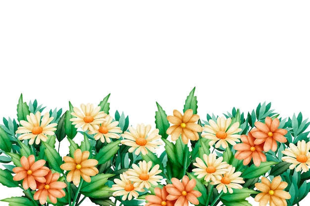 Floral watercolor spring background