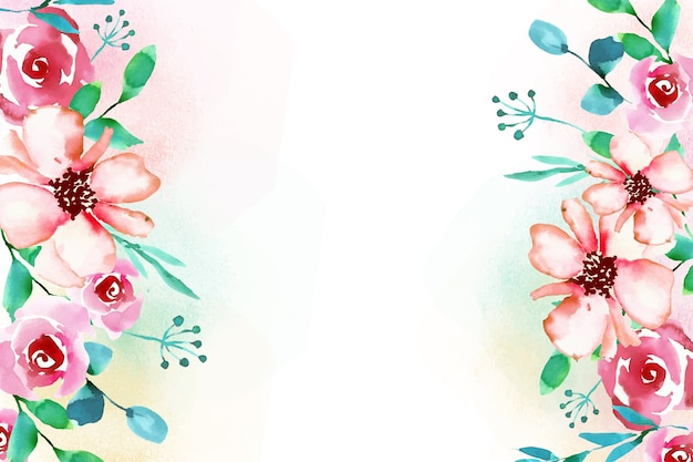 Floral watercolor style background