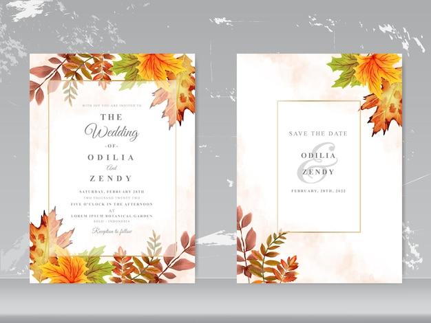Цветочная акварель свадебная открытка шаблон