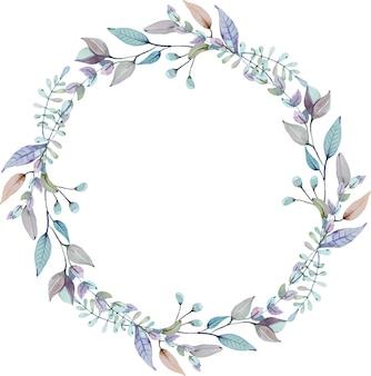Floral watercolour circle wreath
