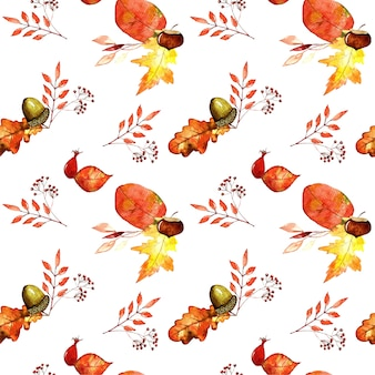 Floral watercolour seamless pattern