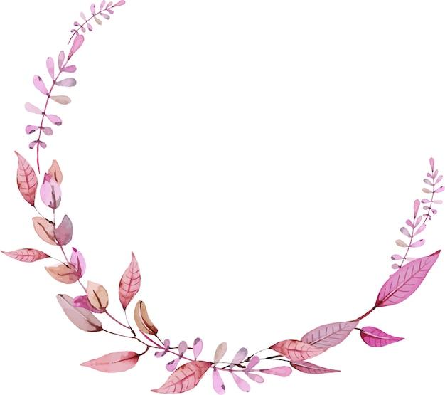 Floral watercolour wreath
