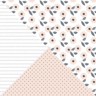 꽃 파 도트 원활한 패턴
