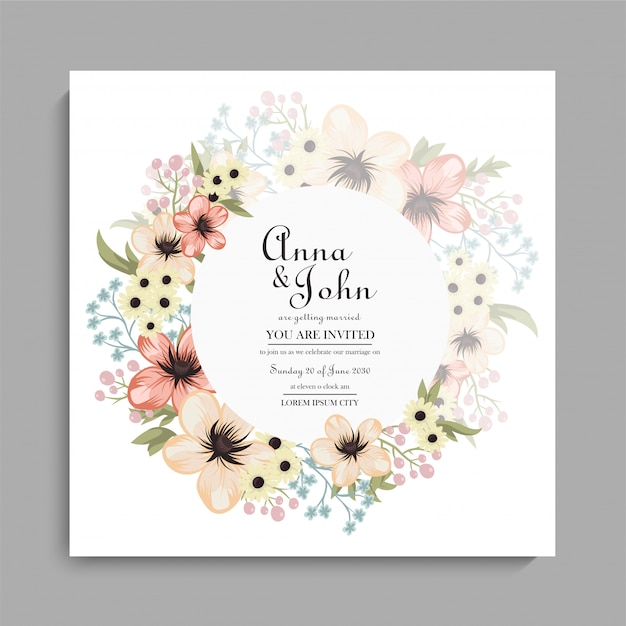 Floral wedding background yellow floral pattern