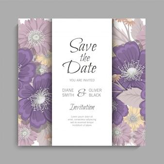 Floral wedding background