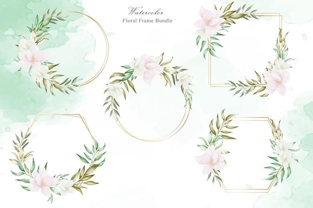 花の結婚式のバンドル