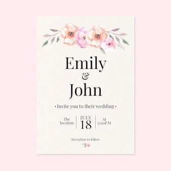 꽃 웨딩 카드 개념