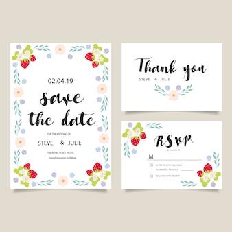 花weddingカードデザイン