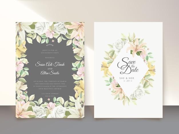 Цветочные свадебные открытки