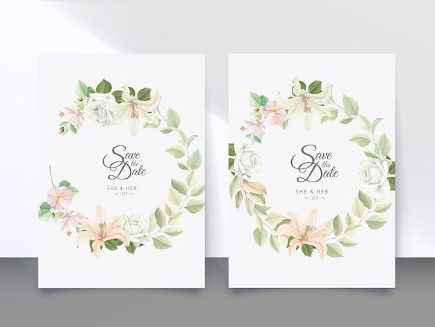 꽃 웨딩 카드
