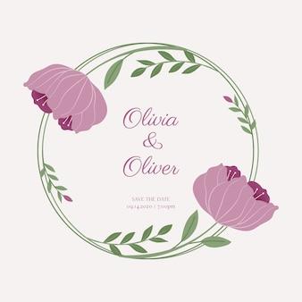 Floral wedding frame concept