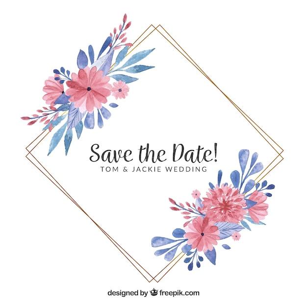 c037f2c34828 Free Floral wedding frame template SVG DXF EPS PNG - Free Download ...