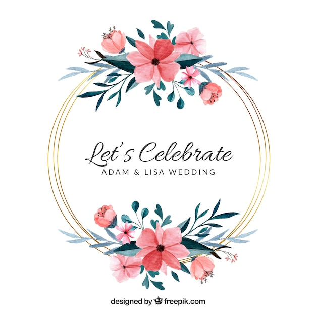Free Floral Wedding Frame Template Svg Dxf Eps Png 49ers Cut File Etsy