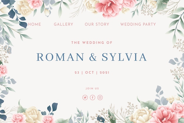 꽃 결혼식 홈페이지 템플릿