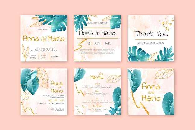 Коллекция цветочных свадебных постов instagram