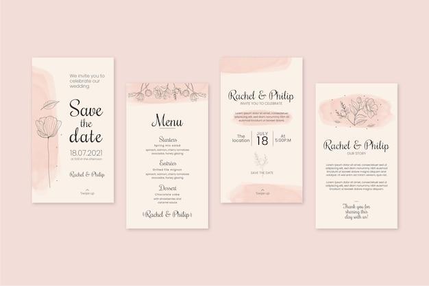 Коллекция цветочных свадебных историй instagram