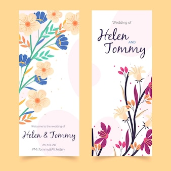 Floral wedding instagram stories template