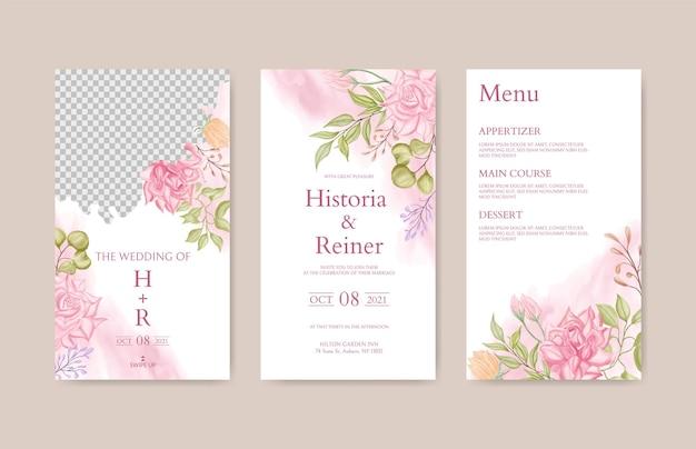 꽃 결혼식 instagram 이야기 템플릿
