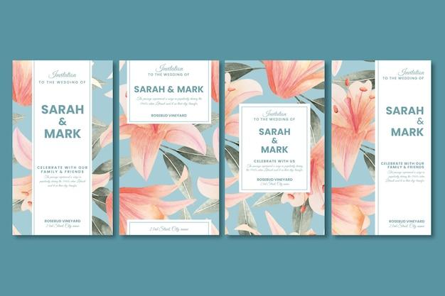 Цветочные свадебные истории instagram
