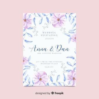 Floral wedding invitatio