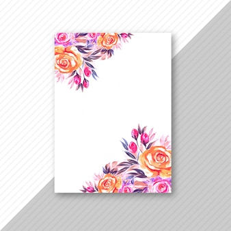 Floral  wedding invitation card design