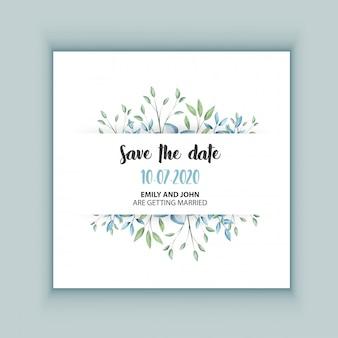 Floral wedding invitation card