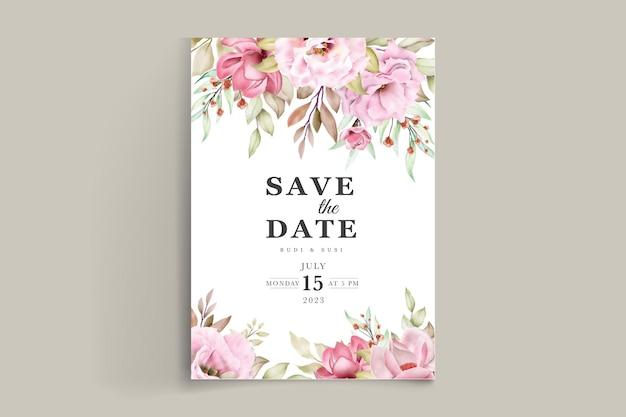 Цветочные свадебные приглашения