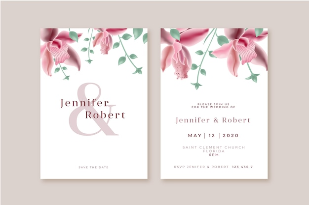 Floral wedding invitation concept