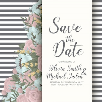 Floral wedding invitation elegant invite card