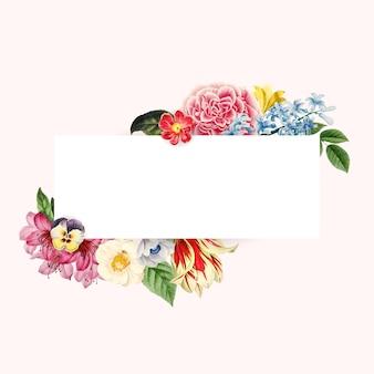 Floral wedding invitation mockup vector