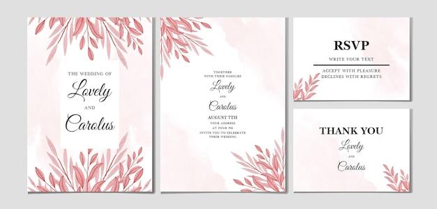 Набор цветочных свадебных приглашений