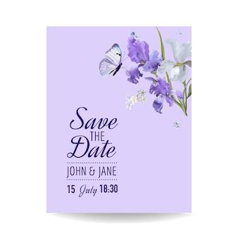 꽃 결혼식 초대장 템플릿