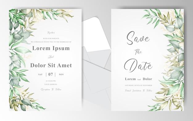 꽃 결혼식 초대장 서식 파일