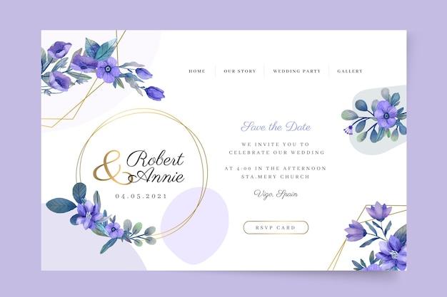 Шаблон целевой страницы цветочной свадьбы