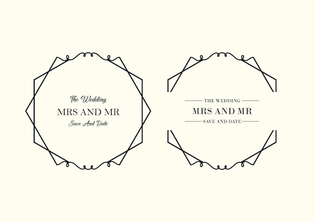 Floral wedding minimalist template collection