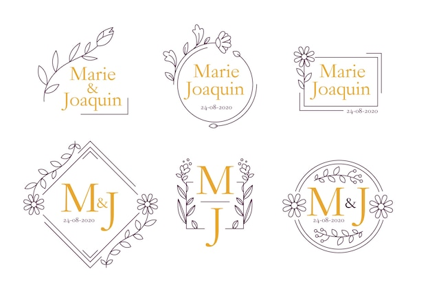 Floral wedding monograms theme