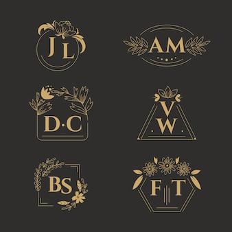 Floral wedding monograms