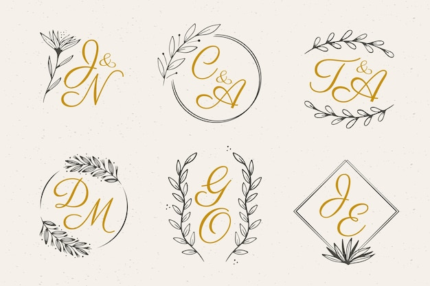 Floral wedding monograms