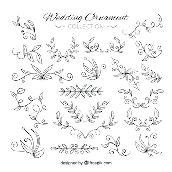 Floral wedding ornament collection