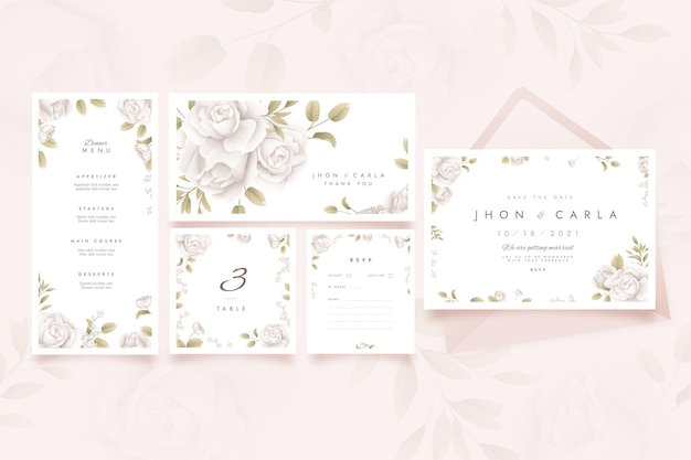 Floral wedding stationery collection