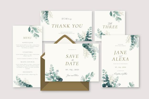 꽃 결혼식 편지지 컬렉션