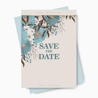Modello di matrimonio floreale - fiori blu chiaro