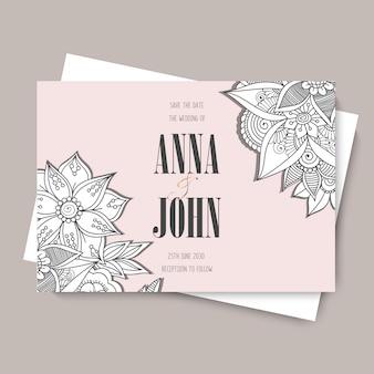 Modello di matrimonio floreale - carta floreale rosa